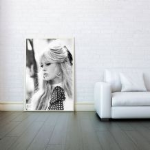 Brigitte Bardot, Decorative Arts, Prints & Posters, Wall Art Print, Poster Any Size - Black and White Poster
